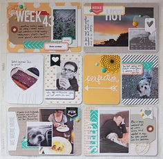 Project Life Week 43 by dearlydee at Project Life 6x8, Project Life Scrapbook, Project Life Layouts, Project Life Cards, Pocket Scrapbooking, Scrapbooking Layouts, Scrapbook Cards, Baby Scrapbook, Project Life Organization