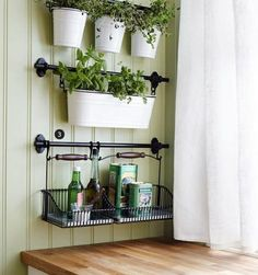 IKEA. Cute! Comes is silver with really sweet green buckets. Got these for my craft space!!!