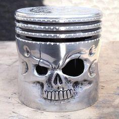 skull piston head