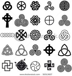 Celtic knots and shapes; not lettering, but I love to draw Celtic knots.