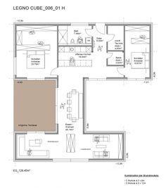 Fertighaus Preis ab 250000 - Legnocube - Grundriss Erdgeschoss