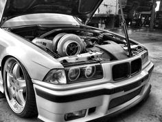 BMW E36 M3 -- Turbo has been added for entertainment value.