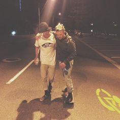 Skate Skaters Vans Night Party Drunk Burleigh