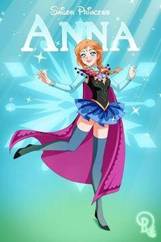 Sailor Disney Princess Anna.... By Drachea Rannak