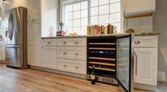 NewAir Built-in 46 Bottle Dual Zone Compressor Wine Fridge Compact Appliances, Compact Kitchen, Custom Kitchen, Portable Ice Maker, Home, Wine Fridge, Built In Wine Refrigerator, Wine Refrigerator, Kitchen