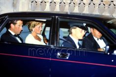 July 10, 1990:  Prince Charles and Princess Diana arrive at the Empire Theatre in Leicester Square for the Premiere of 'Back To The Future 3', in aid of Prince's Trust