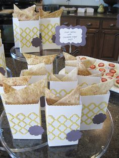 Bags made with Lifestyle Crafts Paper Bag die and Trellis die. #bridalshower