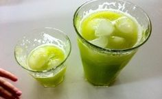 Drinking This Before Going to Bed Burns Abdominal Fat Like Crazy  Ingredients: 1 cucumber, lots of parsley or even cilantro, 1 of lemon, 1 tbsp. grated ginger, 1 tbsp. aloe entire juice, 1/2 a glass water,
