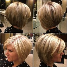 Haare 100 Mind-Blowing Short Hairstyles for Fine Hair Rounded Bronde Bob with Layers When Hot Haircuts, Thin Hair Haircuts, Short Bob Haircuts, Graduated Bob Haircuts, Stacked Haircuts, Bob Haircut For Fine Hair, Bob Hairstyles For Fine Hair, Short Hairstyles For Women, Wedding Hairstyles