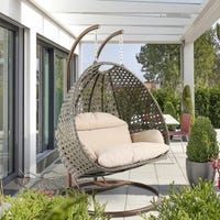 2 Person Heavy Duty Double Hammock Porch Swing Chair Outdoor Swinging Chair New Wicker Swing, Egg Swing Chair, Hanging Swing Chair, Hammock Chair, Swinging Chair, Egg Chair, Chair Cushions, Swivel Chair, Chair Bed