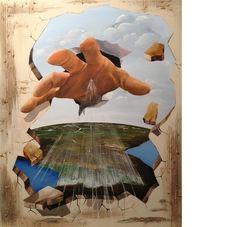 """Saatchi Art Artist Eka Peradze; Painting, """"World is in your hands 3D"""" #art"""