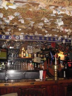 Bermuda Island - The Swizzle Inn ~ Swizzle In, Swagger Out (Business cards on ceiling and walls)