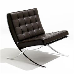 The Barcelona Chair by Ludwig Mies van der Rohe for Knoll International - the authorised edition. Each chair has an edition number and Mies' signature stamped into the frame. Designed specifically for the 1929 World Expo German Pavilion in Barcelona. Ludwig Mies Van Der Rohe, Modern Chairs, Modern Furniture, Furniture Design, Furniture Chairs, Furniture Makers, Handmade Furniture, Décoration Mid Century, Modern Classic