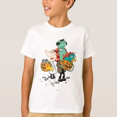 Phineas and Ferb Halloween T-shirt, Kids Unisex, Size: Youth XS, White Disney Halloween, Halloween Shirt, Halloween Outfits, Halloween Ideas, Trick Or Treat Costume, Triomphe, Halloween Party Invitations, Phineas And Ferb, Personalized Note Cards