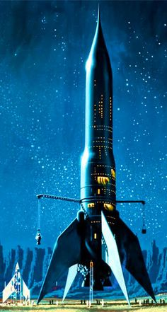 "The RS 10 from Star Born by Andre Norton, 1957. Artwork by Dean Ellis. Pinned from the ""Atomic Rockets"" site."