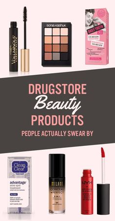 23 Drugstore Beauty Products That People Actually Swear By products best products drugstore products must have products natural products that really work Acne Spots, Drugstore Makeup, Beauty Make Up, Beauty Stuff, Beauty Routines, Beauty Hacks, Beauty Tips, Beauty Ideas, Beauty Secrets