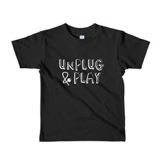 UNPLUG & PLAY - American Apparel Toddler Tee
