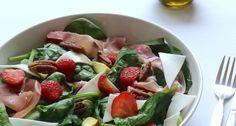 Geitenkaas salade met aardbeien - Uit Paulines Keuken