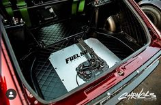 No junk in our trunk. Nuke CFC-Unit with Fuel Safe Fuel cell. Performance Parts, Mustang, Competition, Track, Racing, The Unit, Usa, Life, Weapons Guns