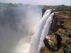 Devil's Pool at Victoria's falls em Livingstone, Southern