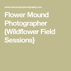 Flower Mound Photographer {Wildflower Field Sessions}