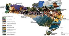 Eu Amo Santa Catarina: Santa Catarina o Estado Tour Operator, Brazil, Desktop Screenshot, Tours, Blog, Movie Posters, Diagram, Tourist Map, Dream Vacations