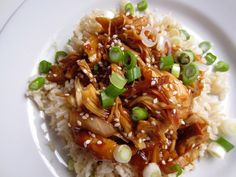 Honey sesame chicken in crock pot. Made this twice, it is awesome.