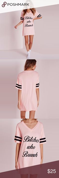 Oversized tshirt dress. Look cute and feel comfy in this beautiful pink tshirt dress. Can be dressed up or down. Perfect for vacation or a fab sleep over. We all ❤️❤️ brunch  Dresses