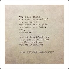 • Christopher Poindexter •