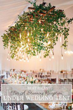 39 Wedding Tent Ideas For A Stunning Reception Coffee Shop Design, Cafe Design, Jungle Decorations, Wedding Decorations, Bedroom Lamps Design, Deco Cool, Balkon Design, Simple Elegant Wedding, Outdoor Chandelier