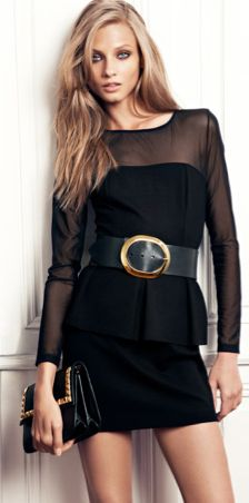 Black + Gold.  I love the simplicity of sheer material.  Elegant and light!