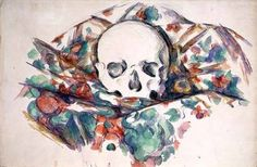Paul Cézanne - Skull on Drapery (w/c and pencil on paper)