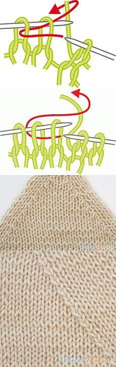 Планета Вязания | Вязание спицами - убавление петель.