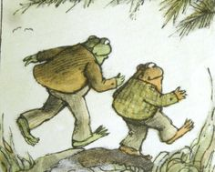 Illustration by Arnold Lobel... Frog and Toad All Year - Arnold Lobel - 1976 - hardcover