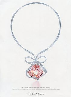 Tiffany Morganite and Diamond Anniversary Necklace in Platinum. Sold for…                                                                                                                                                                                 Mais