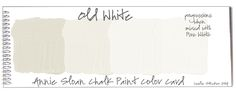 Annie Sloan Chalk Paint Old White Paint with progressions   PaintColorways: Color Swatches
