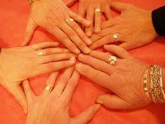 Workshop voor Ank haar 40ste verjaardag. Ringen maken.