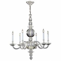 """Large Crystal George II Chandelier Visual Comfort And Company Candles Without Shades Chand 30"""" w x 31"""" h $1800"""