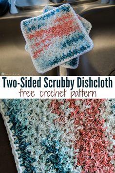 Two-Sided Scrubby Dishcloth Crochet Pattern