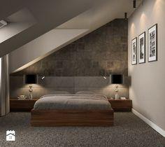 Aranżacje wnętrz - Sypialnia: Projekt wnętrz mieszkania - Średnia sypialnia małżeńska na poddaszu, styl nowoczesny - ARCHISSIMA. Przeglądaj, dodawaj i zapisuj najlepsze zdjęcia, pomysły i inspiracje designerskie. W bazie mamy już prawie milion fotografii!
