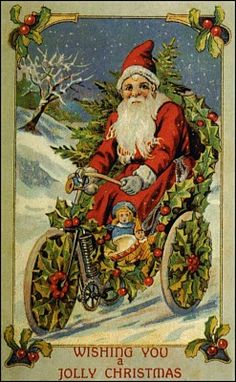 Here is the last group of vintage Santa images. Here is Santa arriving on a train. Christmas Ecards, Old Time Christmas, Old Fashioned Christmas, Noel Christmas, Father Christmas, Retro Christmas, Christmas Greetings, Christmas Postcards, Xmas