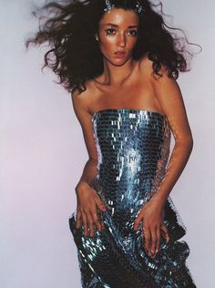Vogue UK April 1999'Paris By Night' - Audrey Marnay by Mario Testino