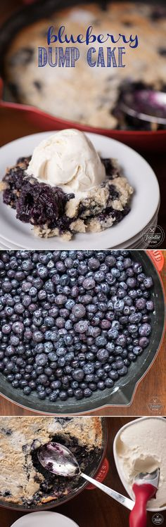 Four simple ingredients and only a few minutes of prep time are all you need to create this mouthwatering BLUEBERRY DUMP CAKE. It's a perfect summer dessert!
