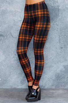 Tartan Punk Orange Toasties - 48HR ($80AUD) by BlackMilk Clothing