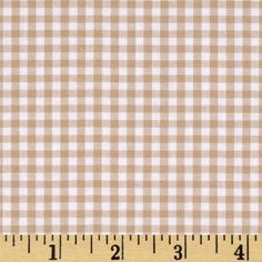 Kaufman 1/8'' Carolina Gingham Sand from @fabricdotcom  From Robert Kaufman Fabrics, this light weight woven yarn dyed gingham fabric is extremely versatile. It can be used to create stylish summer dresses, children's apparel and blouses. It can also be used to make tablecloths, curtains and even handkerchiefs. Checks measure 1/8''.