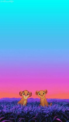 The Lion King -- Simba and Nala as cubs...This picture is so adorable! Brings back Disney memories