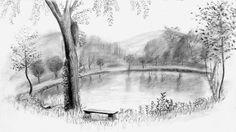 lake deviantart cabin draw pencil drawing drawings sketch ross bob charcoal step joy studio
