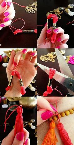 DIY Tassel Necklace is creative inspiration for us. Get more photo about diy hom. - DIY Tassel Necklace is creative inspiration for us. Get more photo about diy home decor related wit - Diy Tassel, Tassel Jewelry, Tassel Necklace, Jewellery, Tassles Diy, Diy Necklace, Jewelry Crafts, Handmade Jewelry, Sewing Projects