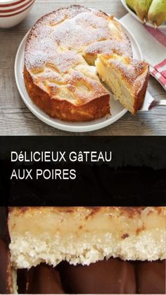 Delicious pear cake – About Healthy Desserts Pear Cake, Beignets, Cheesecakes, Yummy Cakes, Biscuits, French Toast, Deserts, Food And Drink, Banana