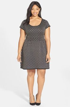 Jessica Simpson 'Twylar' Jacquard Dress (Plus Size) available at #Nordstrom